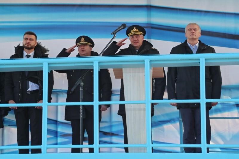 В Керчи на воду спущен новый корабль проекта 22160