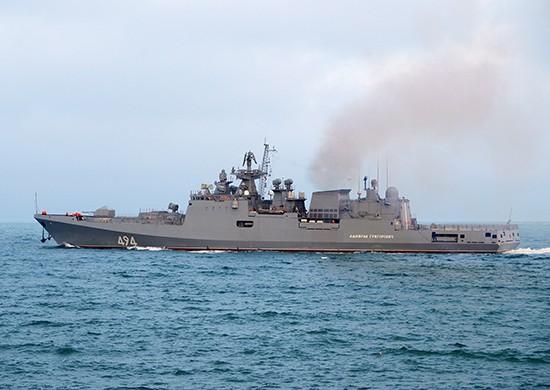 Экипаж фрегата «Адмирал Григорович» провел тренировку по ПВО в Средиземном море