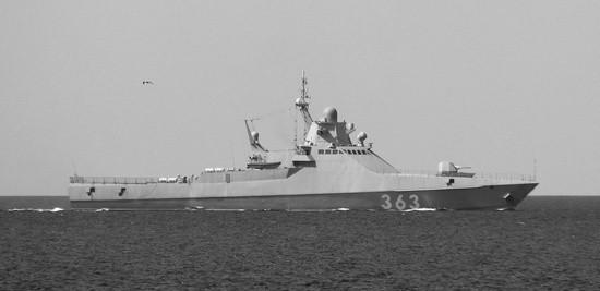 Патрульный корабль «Павел Державин» провёл совместное учение с БПКРК «Бал»