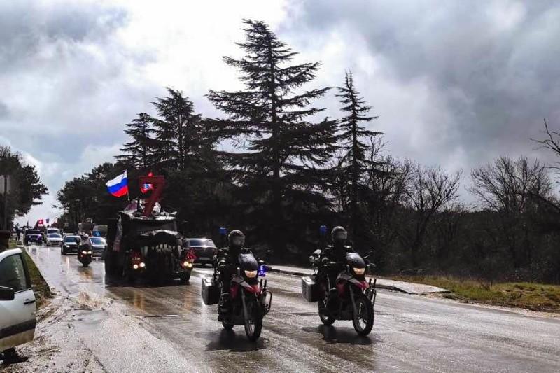 Севастопольские спасатели МЧС приняли участие в праздничном автомотопробеге