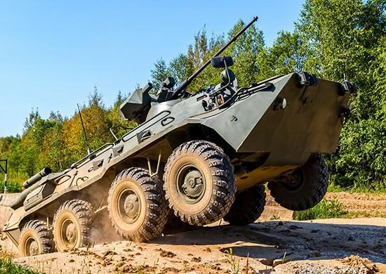 Батальон морской пехоты ЧФ получил 40 новых бронетранспортёров БТР-82А