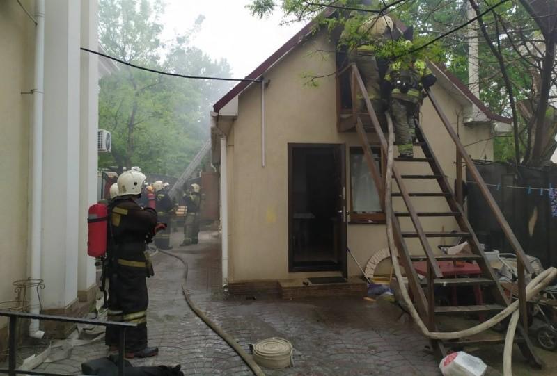 В Севастополе произошел пожар в пристройке к храму
