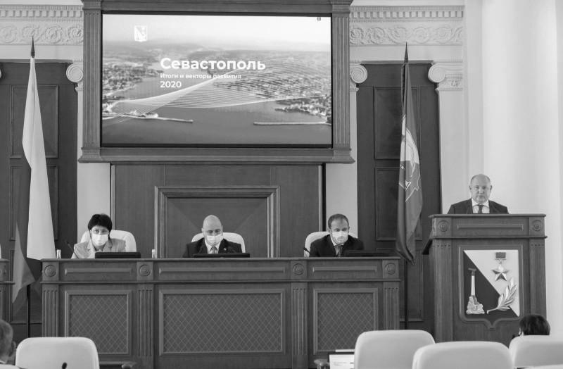 Глава Севастополя отчитался о результатах деятельности Правительства города за 2020 год