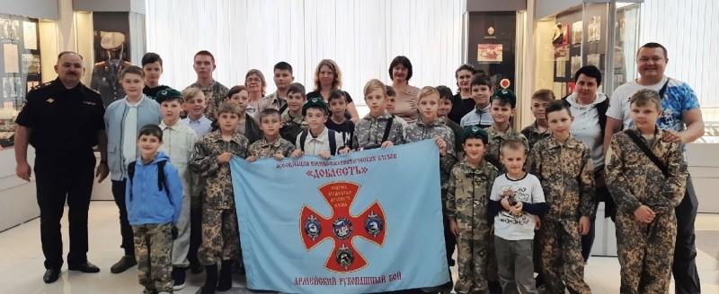 Юные рукопашники Севастополя посетили музей полиции
