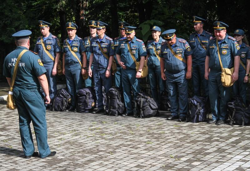 В Севастополе состоялся строевой смотр личного состава МЧС