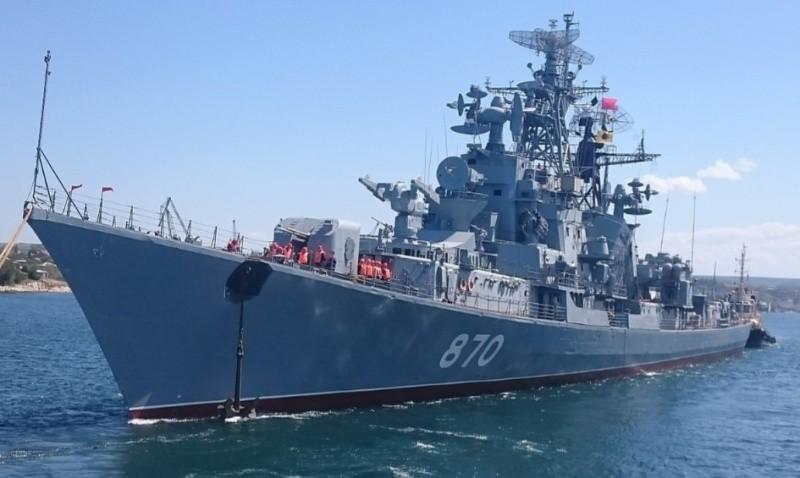 В Севастополе прошел торжественный подъем флага на корабле-музее «Сметливый»