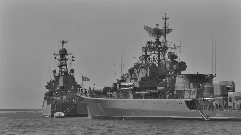 В Севастопольской бухте началось формирование парадного строя кораблей