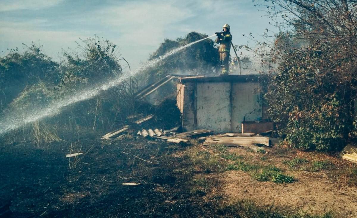 В Севастополе произошло пять природных пожаров за один день