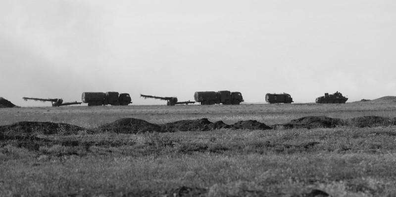 В Крыму началось учение артиллерийских подразделений