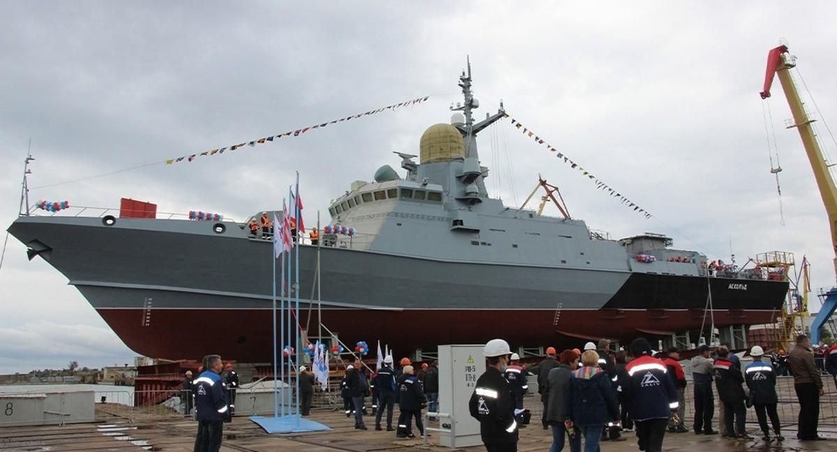 В Керчи спустили на воду новый малый ракетный корабль