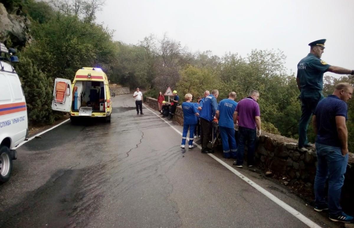 В районе поселка Форос произошло серьезное ДТП