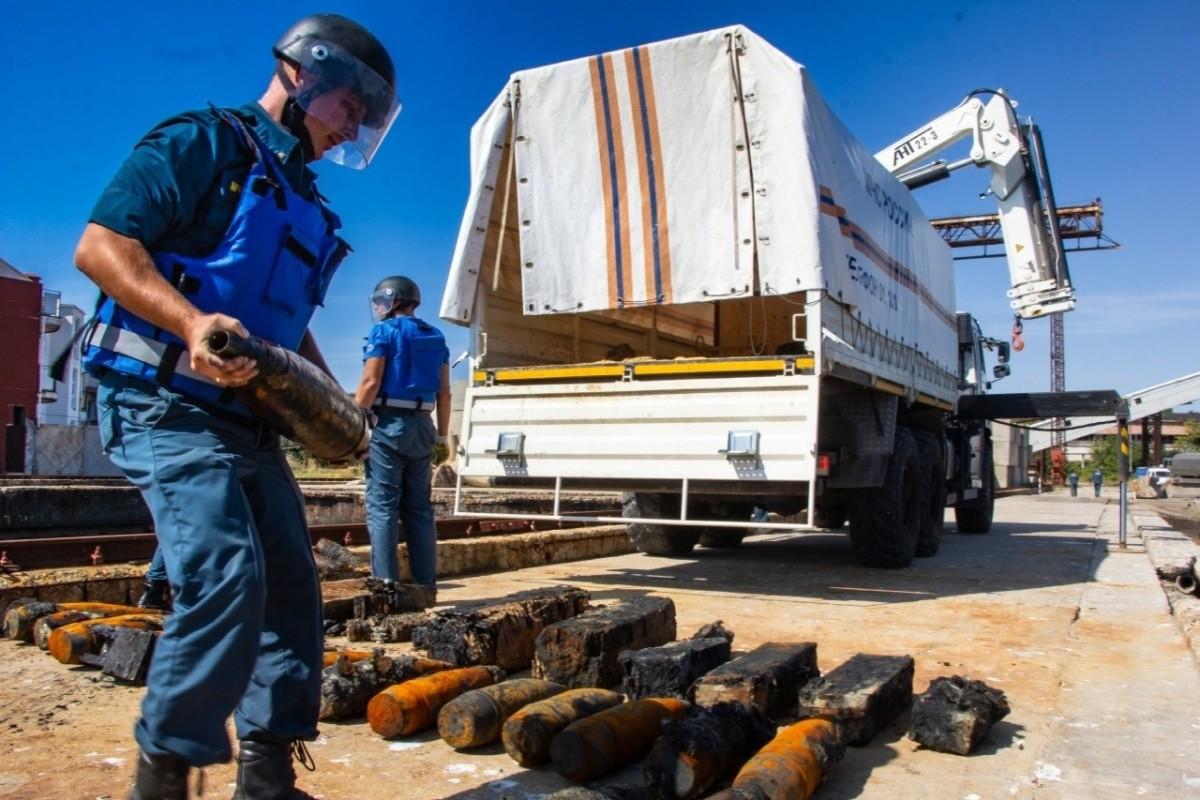 В Крыму уничтожены боеприпасы, поднятые с затонувшего судна «Жан Жорес»