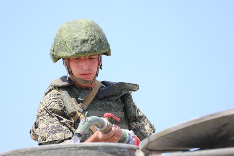 Инженеры армейского корпуса ЧФ провели учение по добыче и очистке воды