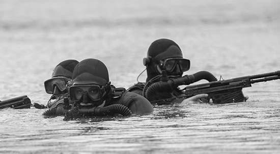 Бойцы ППДО ЧФ отрабатывают элементы подводного боя