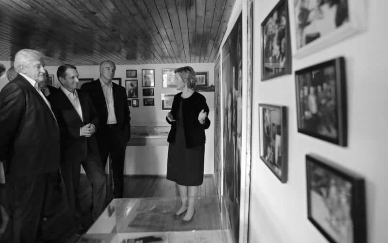 Сергей Аксенов, Сергей Нарышкин и Владимир Мединский посетили «Виллу Штирлиц»